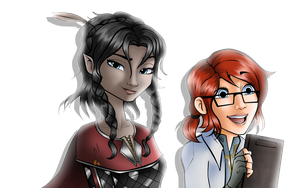 Vahl and Cywren - Disney Style by BenPlus