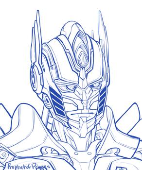 AOE Optimus Prime sketch by ProphetofPrimes
