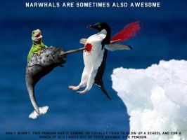 Narwhal vs. Penguin by itsmylifeee