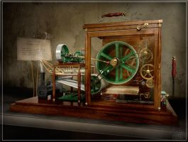 Steampunk Photocopier - 3D by preciousSTONE