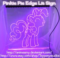Pinkie Pie Glow Sign by AnimeAmy