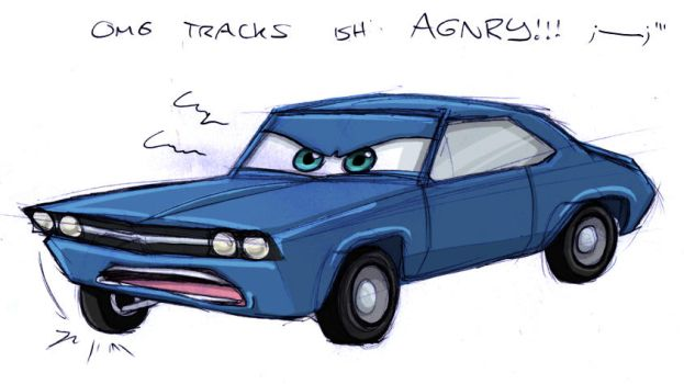 TRACKS IS ANGRY by Candy-Coupe