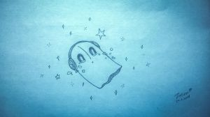 daily drawing 60 Napstablook by kazaret