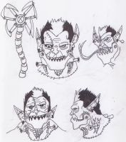 New Freakenstein Head Concepts by GeotrixQueen