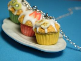 Triple Cupcake Necklace by MrNadavik