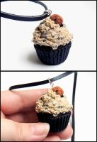 Chocolate Chip Cookie Dough Cupcake Necklace by Bon-AppetEats
