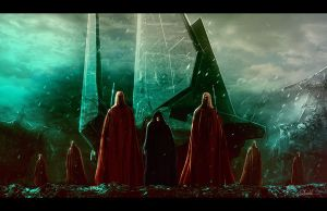 Palpatine and Royal Guards by LivioRamondelli