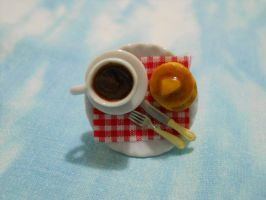 Food Ring: Pancakes and Cup of Coffee by MarzapanArt