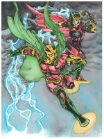 Earth 2 Mr Miracle Big Barda by magnumpeanut