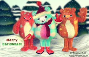 Christmas Yetis forest photoshoot by Princess-Suki-W