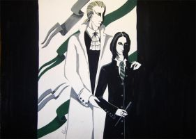 Alecto and Lucius by vil-painter