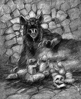 Daemon Rat with Pups by IanBaggley
