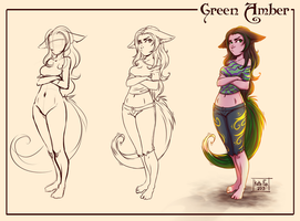 Green Amber by Kate-FoX