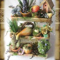 Miniature 3 tier garden by grimdeva