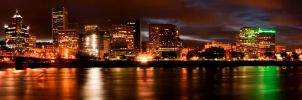 Portland at night by Eruwyn