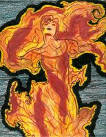 Esmeralda in Flames color by Jasmeralda