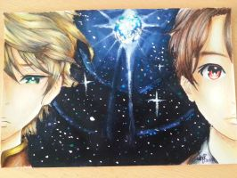 Acryl drawing *Aldnoah Zero* by aBunny15