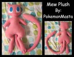 Mew Plush by PokemonMasta