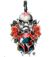 STAR WARS tattoo design by Frosttattoo