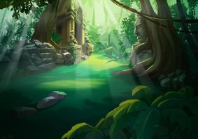 Jungle BG by TeslaRock