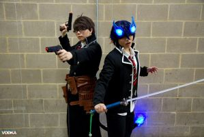Blue Exorcist - Brothers by akarimichelle