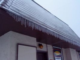 Icicles on a building by PrincesaNamine