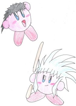 Kirby hats: Tenchi and Ryoko by GregTheLion