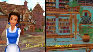 MMD Belle's town and library ON DL by DylonKizunari