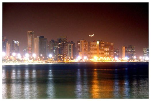 Fortaleza Skyline at Night 2 by maxholanda