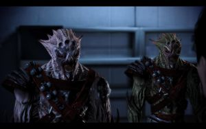 ME3 Blood Pack Leader Kreete and Gryll by chicksaw2002