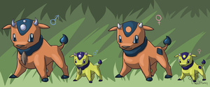 Fakemon: Bocalf by GoldFlareon