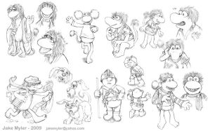Fraggle sketches by lazesummerstone