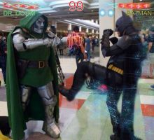 Dr.Doom VS Batman by Cadmus130