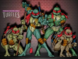 TMNT colour- 2003 work by channandeller