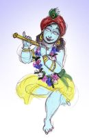 Krishna And His Flute by leksbronks