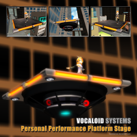 MMD Rin's Personal Performance Platform Stage by Trackdancer