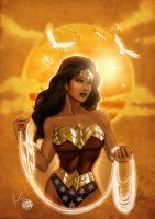 Wonder Woman Sunset by Protokitty