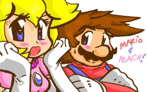 Journal Header:Mario and Peach by LoveandCake