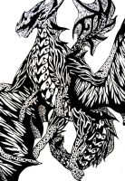 B/W Dragon 2 by SonsationalCreations