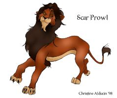 Scar Lion King on the Prowl by VTWC