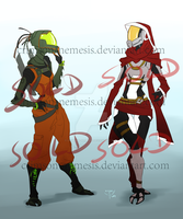 ME adoptables _quarians (sold) by crimson-nemesis