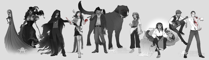 Commission - Otherworldlies Charactersketches by kessir