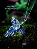 Mallorn Mir silver pendant by Gwillieth