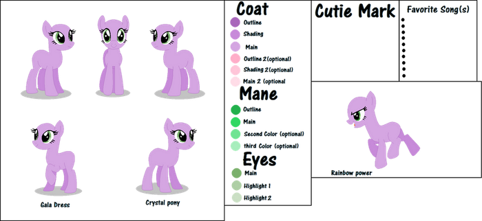 MLP reference sheet base by AngelLightYT