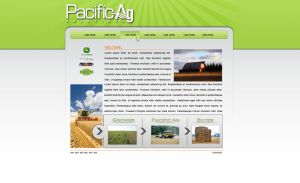 Pacific Ag Solutions Webpage by EvasiveMedia