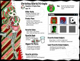 Christina Chris Kringle by GrandLove09