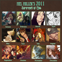 Mel's 2011 Art Summary by Javadoodle