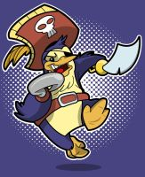 Pirate Penguin by spiers84