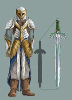 Oathmaker and Elven armour by Elixia-Dragmire