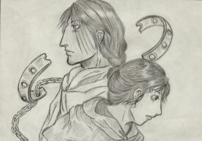 Earthsea: Ged and Tenar by Chihami
